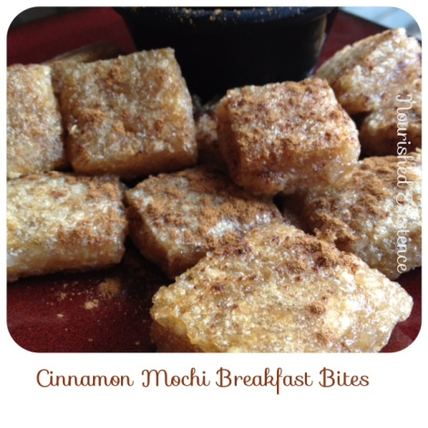 Cinnamon Mochi Breakfast Bites {Gluten Free, Dairy Free, Refined Sugar Free}
