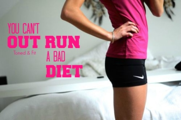 Unfortunately, you can't outrun a bad diet! Image from Balanced Brunette.
