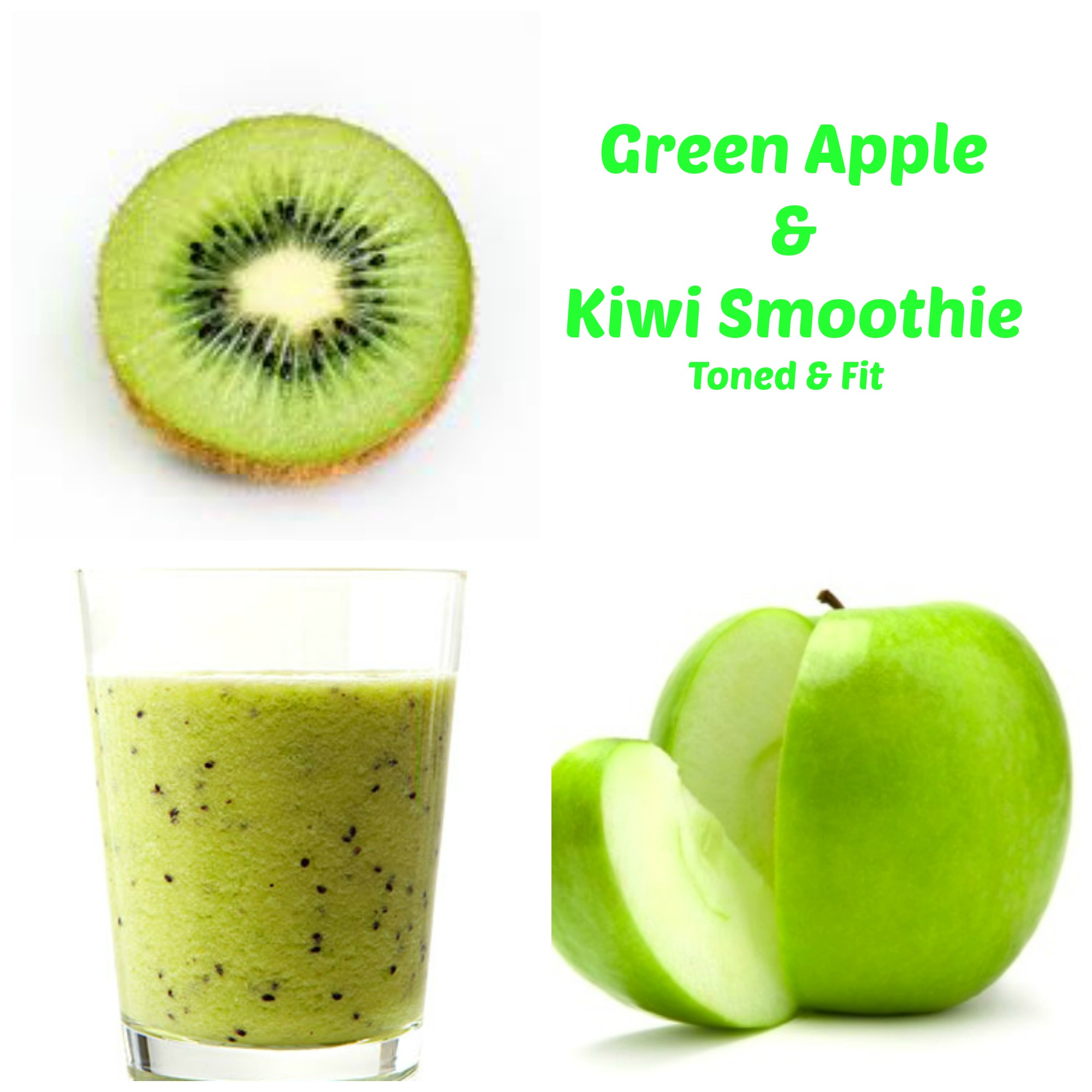 This pineapple kiwi mint smoothie is like a taste of the tropics with ...